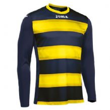 JOMA Europa III Jersey - Dark Navy / Yellow (Long Sleeve)